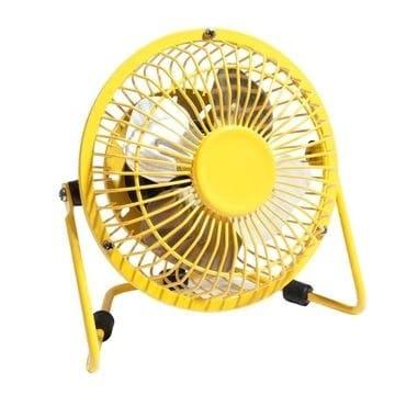 accessoire déco ventilateur jaune