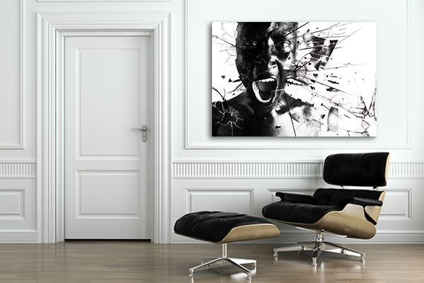 graphisme noir et blanc izoa