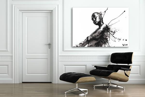 tableau noir et blanc design