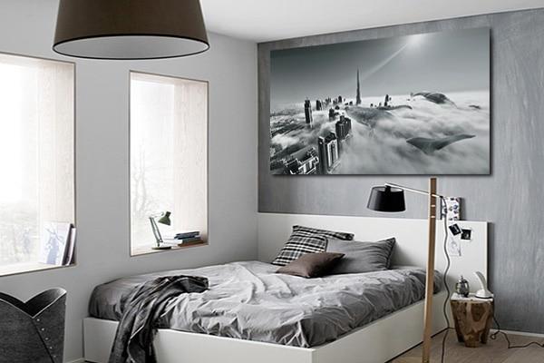 tableau contemporain noir et blanc