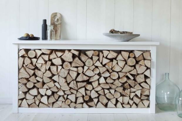 Comment ranger ses b ches de bois - Range buche interieur design ...
