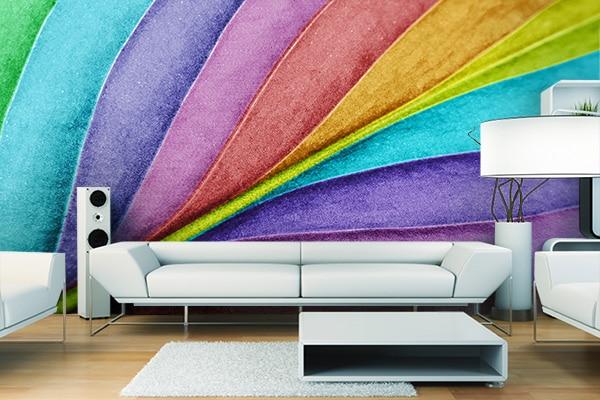 Papier peint courbes de couleurs by Izoa