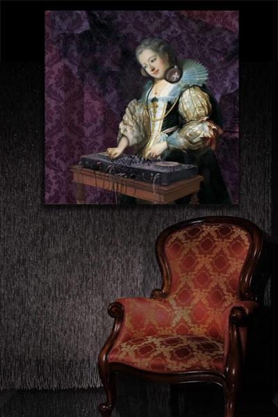 tableau baroque Dj Barok Izoa