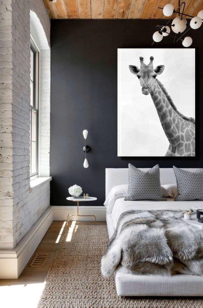 Quel tableau pour un mur gris for Deco mur gris et blanc
