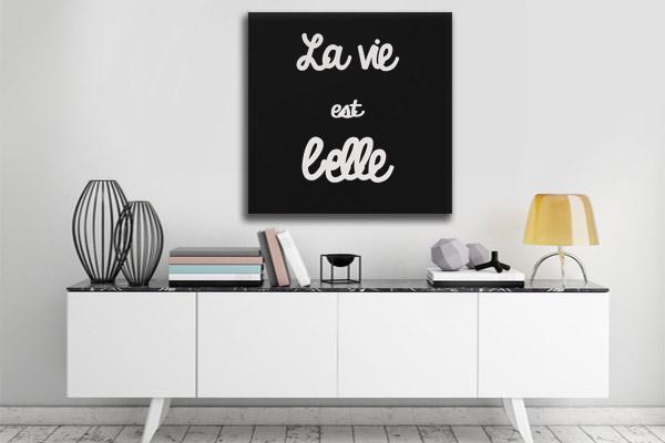toile-moderne-la-vie-est-belle