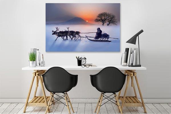 tableau zen tableau paysage deco inuit