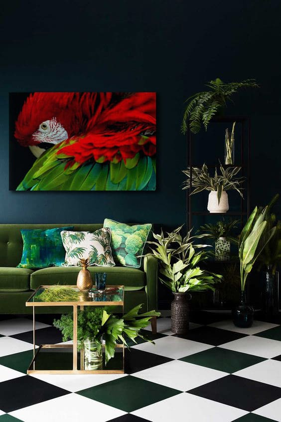 toile-déco-theme-jungle-moderne