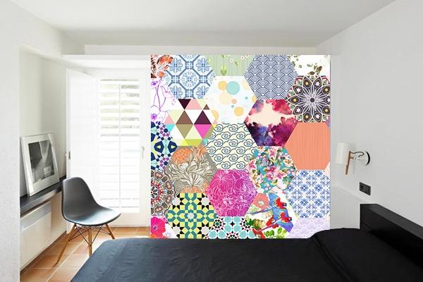 deco mur bohème patchwork