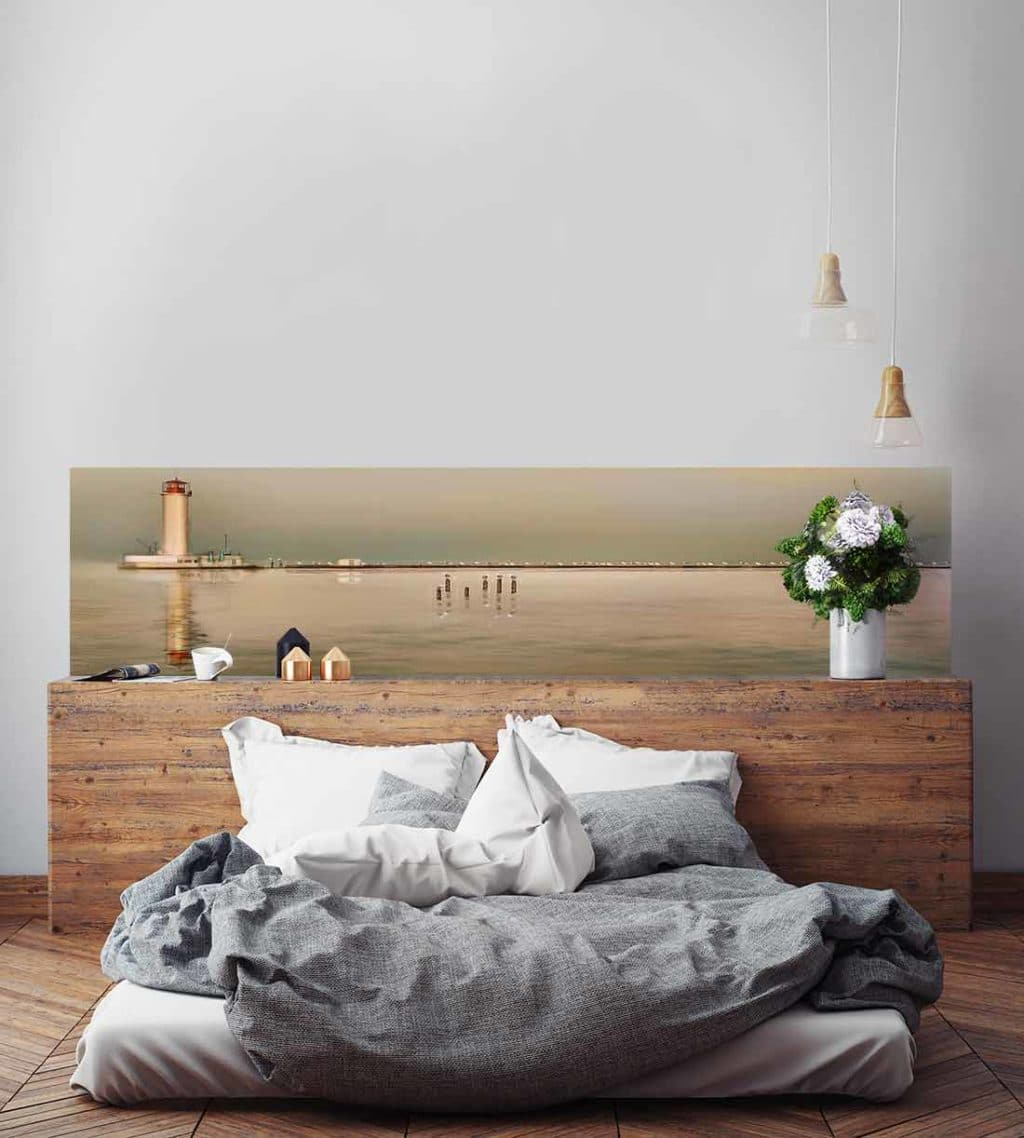 beautiful poster mural tte de lit tte de lit originale. Black Bedroom Furniture Sets. Home Design Ideas