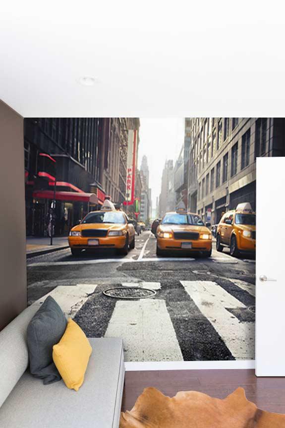 Papier peint trompe l'oeil New York