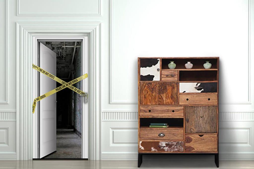 trompe l 39 oeil porte do not cross blog izoa. Black Bedroom Furniture Sets. Home Design Ideas