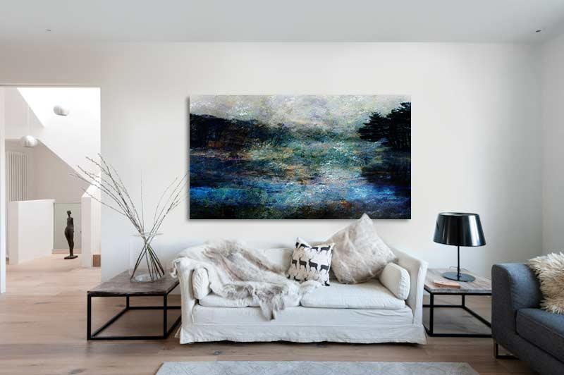 Tableau abstrait paysage