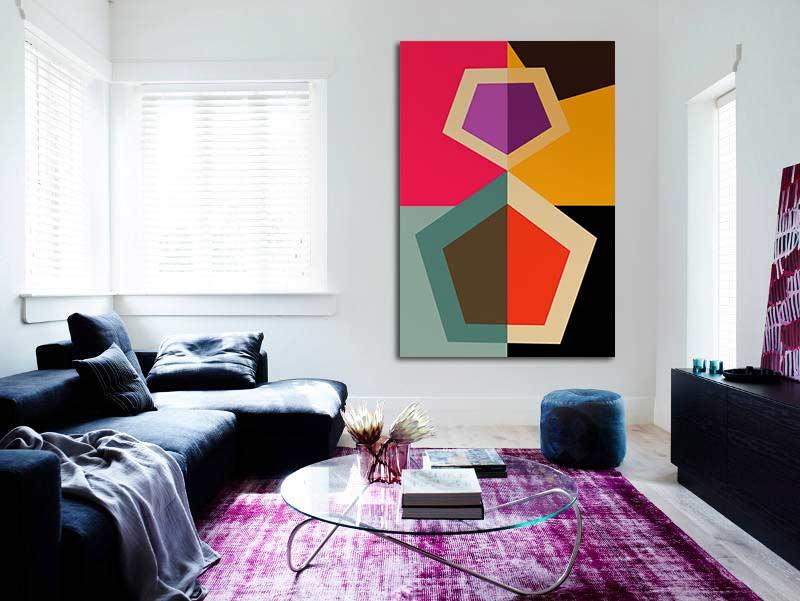 tableau abstrait 10 id es d co qui vous feront succomber blog izoa. Black Bedroom Furniture Sets. Home Design Ideas