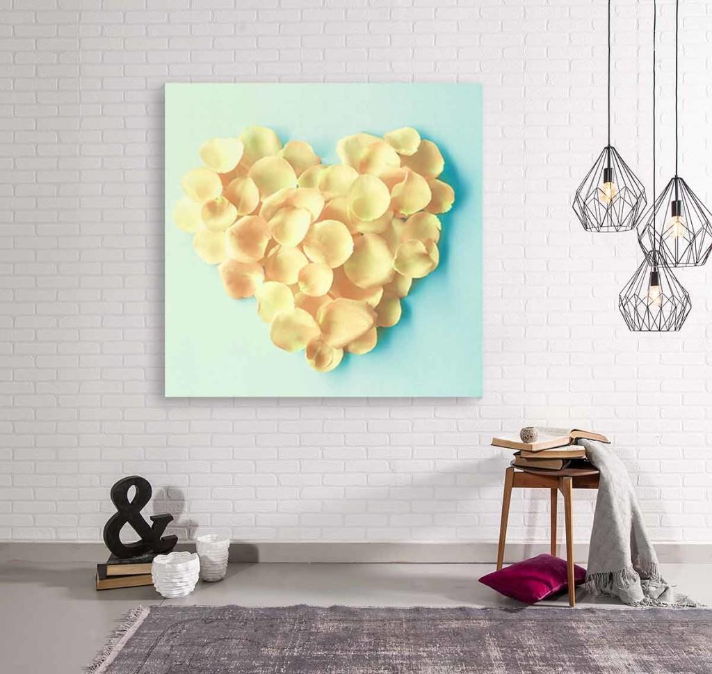 Tableau romantique jaune