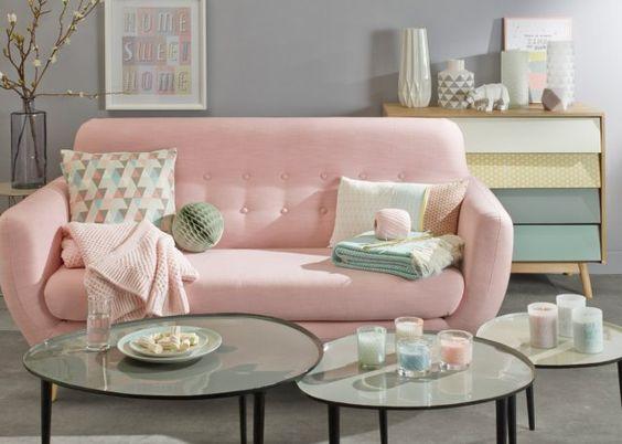 Canapé rose bonbon