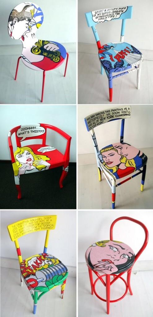 Chaises pop art