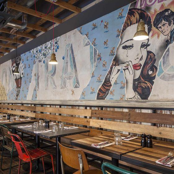 Décoration restaurant pop art