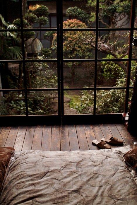 Chambre zen jardin japonais