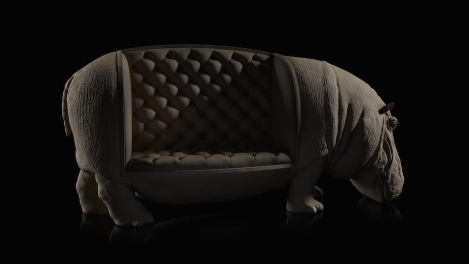 Fauteuil Hippopotame Maximo Riera