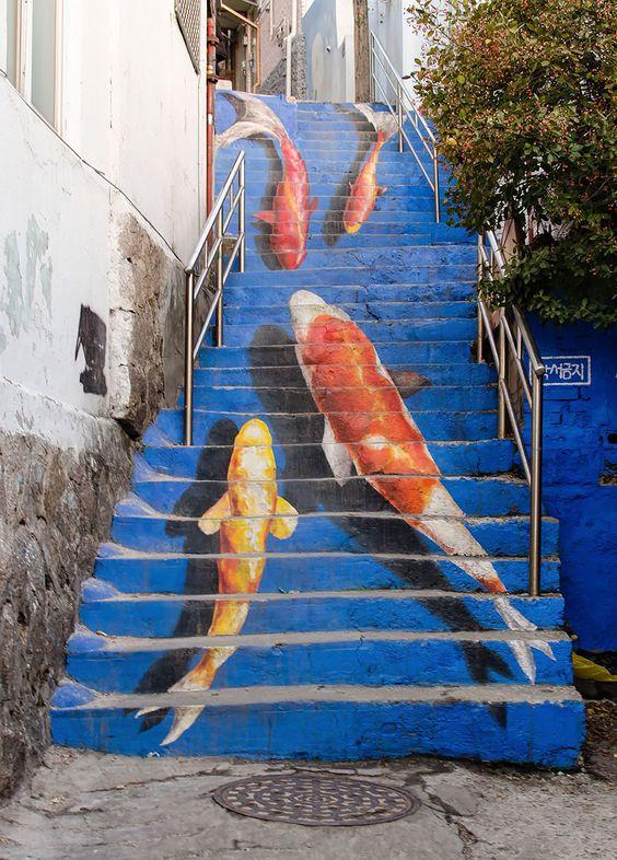 escalier art rue