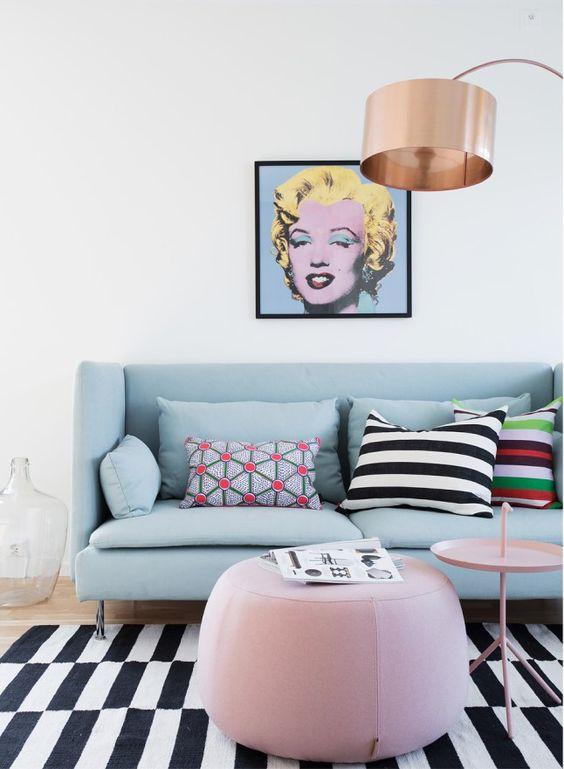 Intérieur pop art pastel