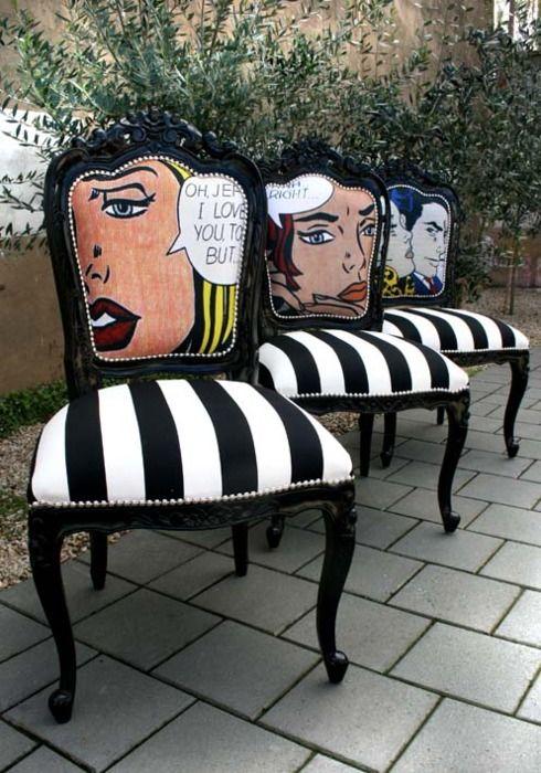 Fauteuils pop art