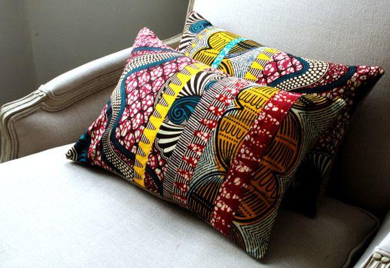 coussins motifs africains