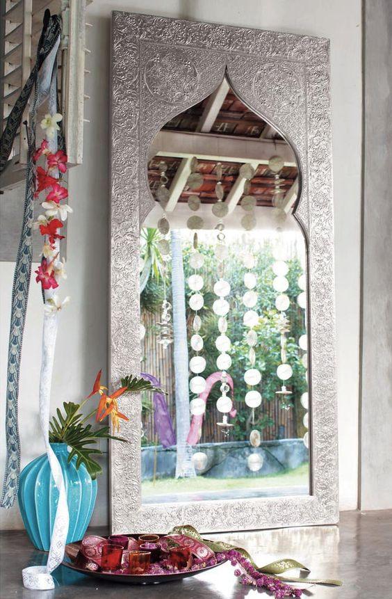 Deco indienne chic for Miroir maison de famille
