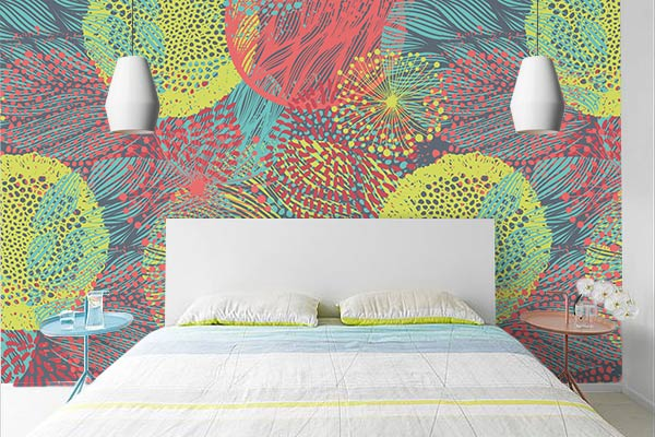 Poster mural pour chambre coloré