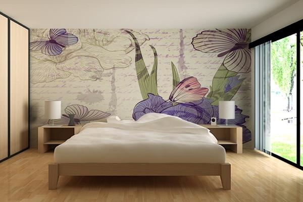 D coration pastel Tapisserie originale chambre
