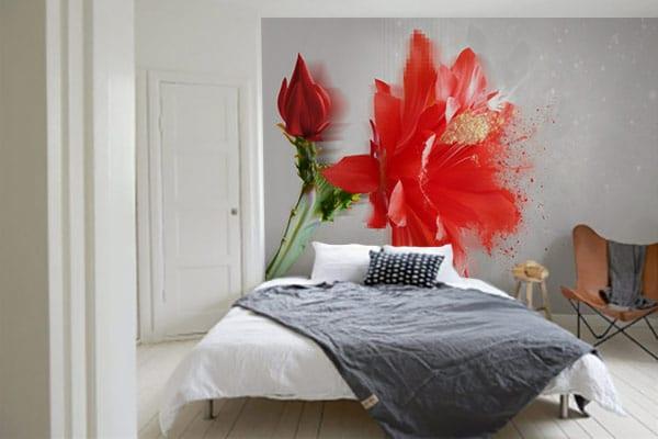 De l art contemporain sur nos murs for Papier peint chambre moderne