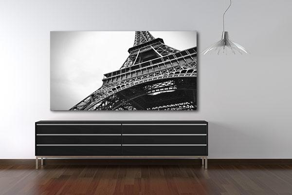 Toile déco noir et blanc Tour Eiffel