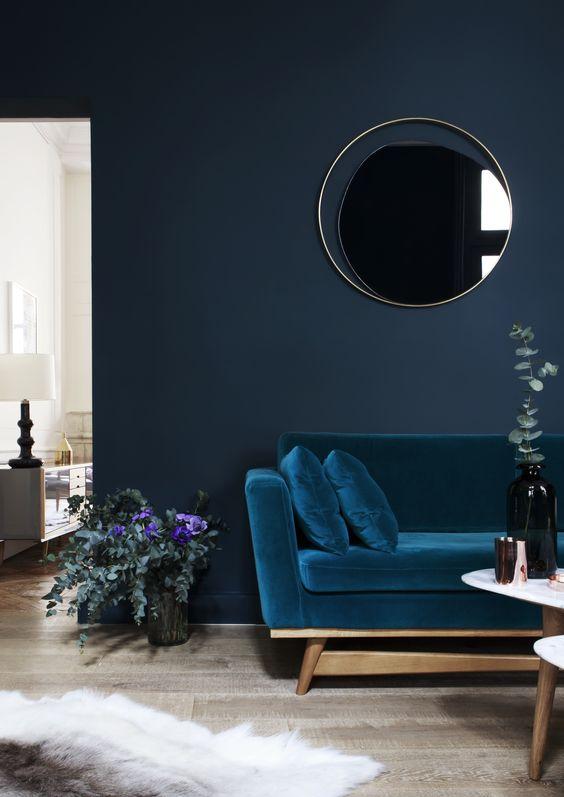 Salon déco bleu