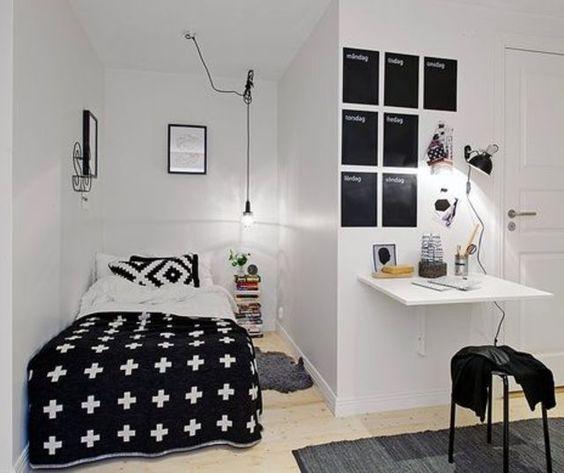 Déco noir et blanc studio