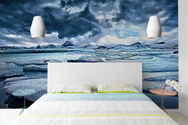 Poster mural Iceberg pour déco chambre bleue