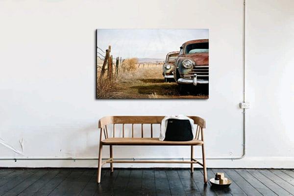 Toile retro vintage voiture