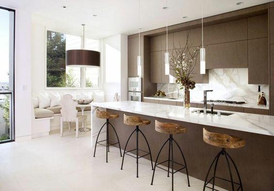 Cuisine moderne et design marron