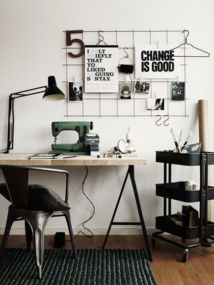 Décoration de bureau style industriel