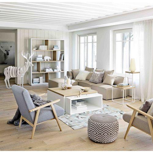 Salon déco scandinave bois clair