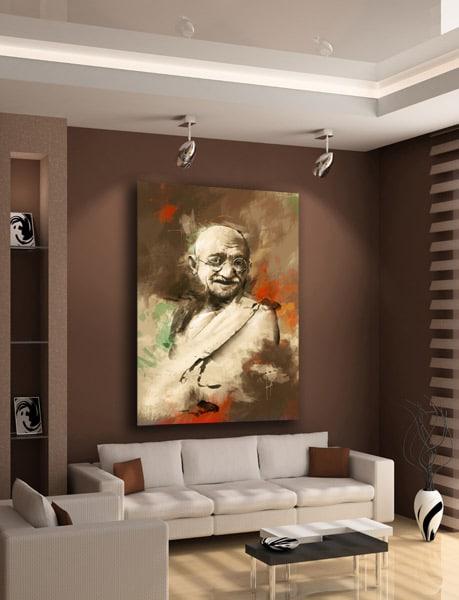 Toile imprimée Gandhi