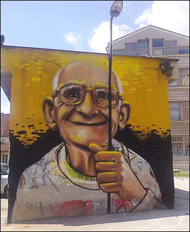 Graffiti en Serbie le jour
