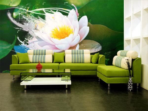 Papier peint graphique Lotus