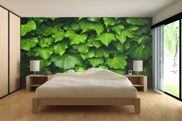 Poster mural trompe l'oeil feuilles
