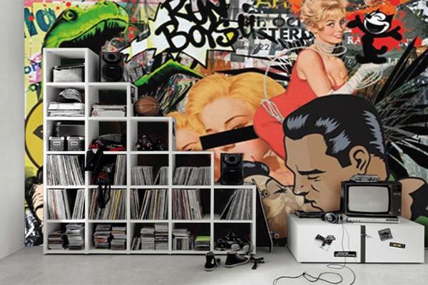 Poster mural vintage pop art