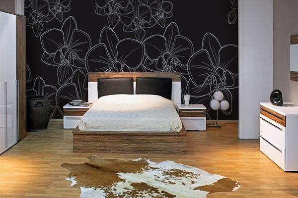 Papier peint chambre Orchidée