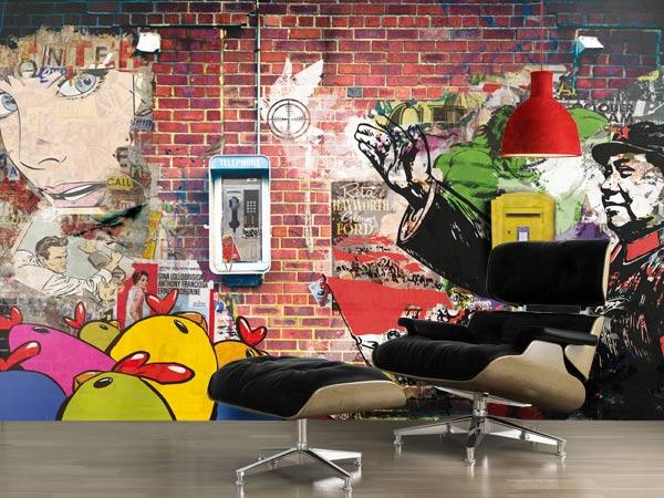 Poster mural design déco industrielle