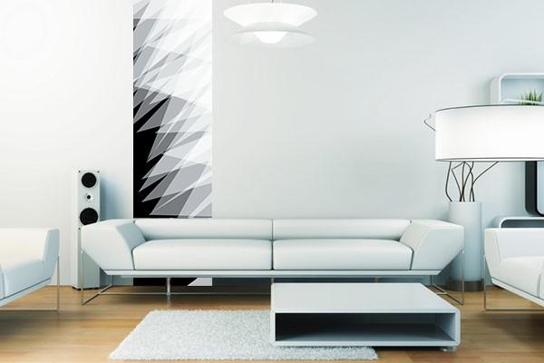 Lé de papier peint design noir et blanc