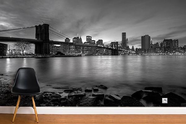 Papier peint New York noir et blanc
