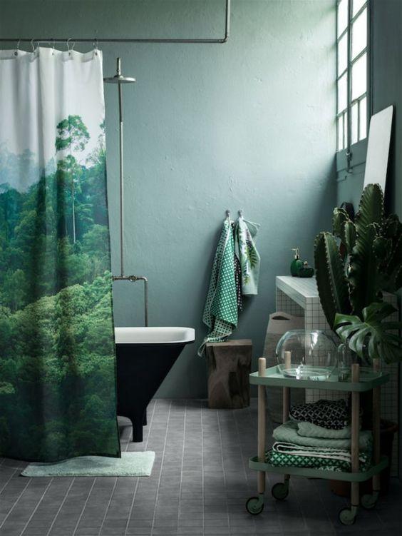Déco salle de bain jungle