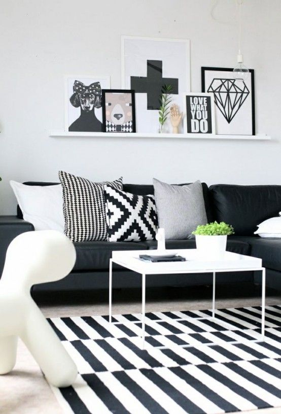 d co noir et blanc el gance assur e blog izoa. Black Bedroom Furniture Sets. Home Design Ideas